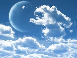 Impermanence: cloud and moon scape